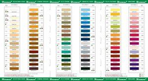 carta colores hilo para coser de bonded nylon